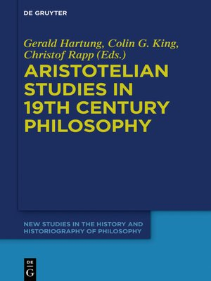 cover image of Aristotelian Studies in 19th Century Philosophy