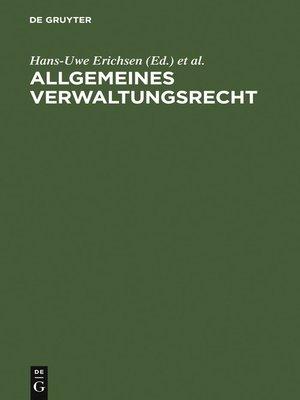 cover image of Allgemeines Verwaltungsrecht