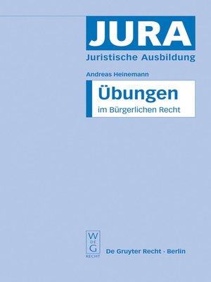 cover image of Übungen im Bürgerlichen Recht