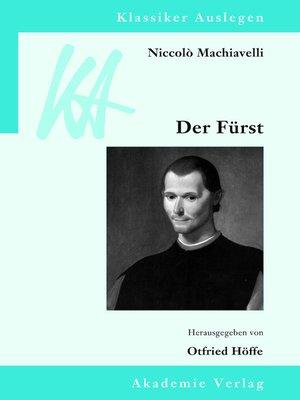 cover image of Niccolò Machiavelli