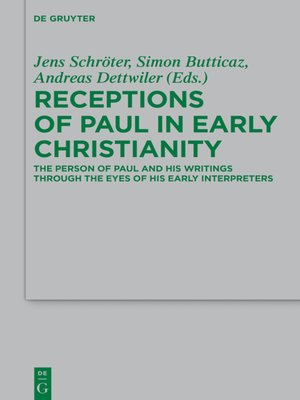 cover image of Receptions of Paul in Early Christianity