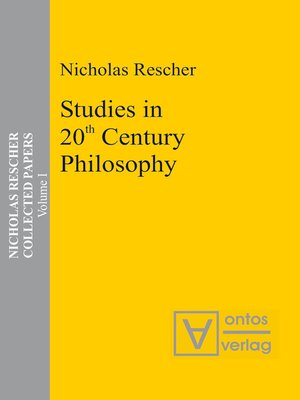 cover image of Studies in 20th Century Philosophy