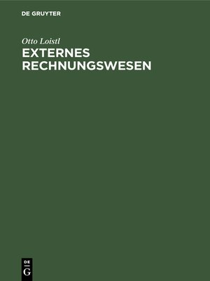 cover image of Externes Rechnungswesen