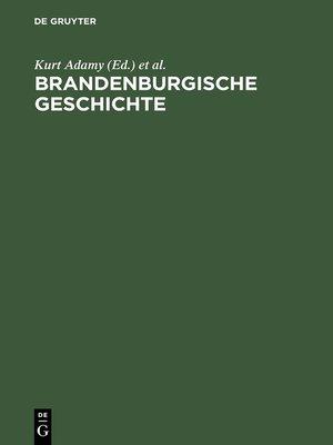 cover image of Brandenburgische Geschichte