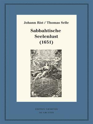 cover image of Sabbahtische Seelenlust (1651)