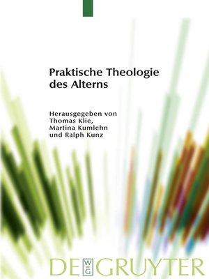 cover image of Praktische Theologie des Alterns