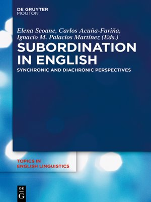cover image of Subordination in English