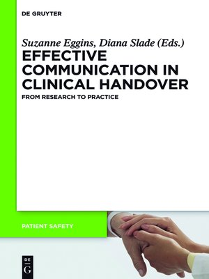 cover image of Effective Communication in Clinical Handover