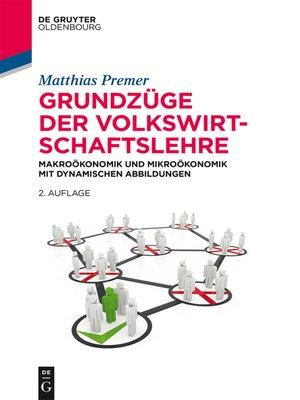 cover image of Grundzüge der Volkswirtschaftslehre