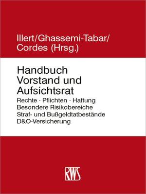 cover image of Handbuch Vorstand und Aufsichtsrat