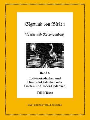 cover image of Todten-Andenken und Himmels-Gedanken