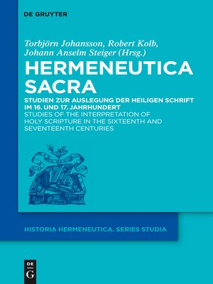 cover image of Hermeneutica Sacra