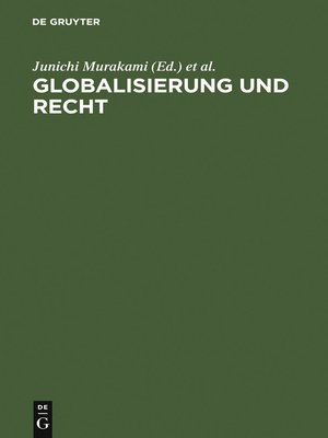 cover image of Globalisierung und Recht