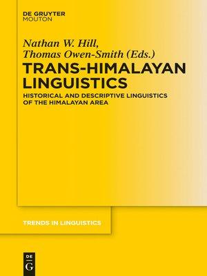 cover image of Trans-Himalayan Linguistics