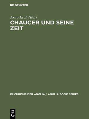 cover image of Chaucer und seine Zeit