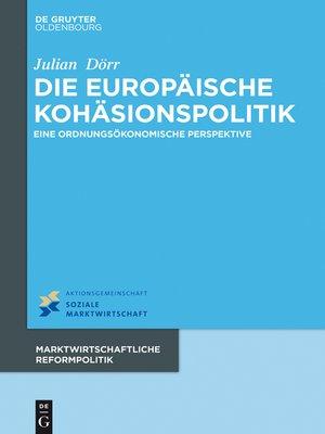 cover image of Die europäische Kohäsionspolitik