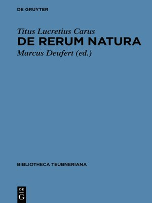 cover image of De rerum natura