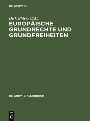 cover image of Europäische Grundrechte und Grundfreiheiten