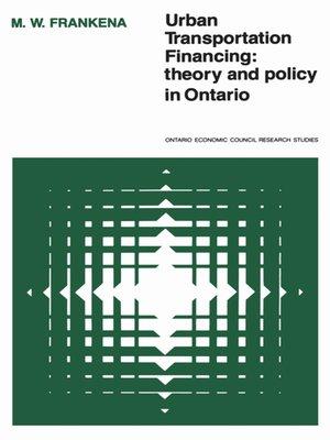 cover image of Urban Transportation Financing