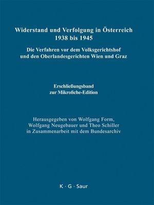 cover image of Erschließungsband zur Mikrofiche-Edition