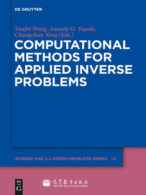 cover image of Computational Methods for Applied Inverse Problems