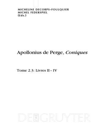 cover image of Livres II-IV. Édition et traduction du texte grec