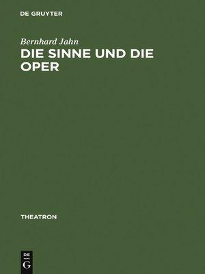 cover image of Die Sinne und die Oper