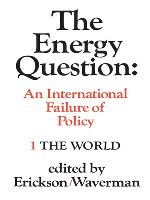 cover image of The Energy Question Volume One