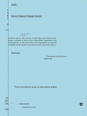 cover image of Eidgenössische Förderpreise für Design 2006, Bourses fédérales de design 2006, Swiss Federal Design Grants 2006