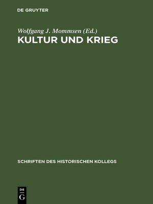 cover image of Kultur und Krieg