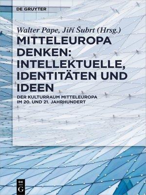 cover image of Mitteleuropa denken