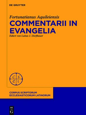 cover image of Commentarii in evangelia