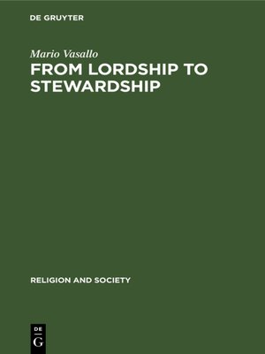 cover image of From Lordship to Stewardship