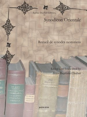 cover image of Synodicon Orientale