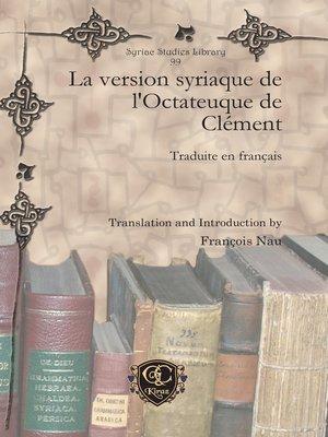 cover image of La version syriaque de l'Octateuque de Clément