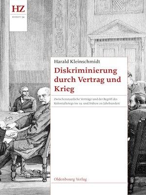 cover image of Diskriminierung durch Vertrag und Krieg