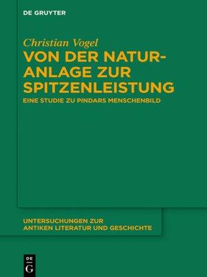 cover image of Von der Naturanlage zur Spitzenleistung