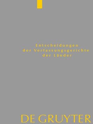 cover image of Baden-Württemberg, Berlin, Brandenburg, Bremen, Hamburg, Hessen, Mecklenburg-Vorpommern, Niedersachsen, Saarland, Sachsen, Sachsen-Anhalt, Schleswig-Holstein, Thüringen