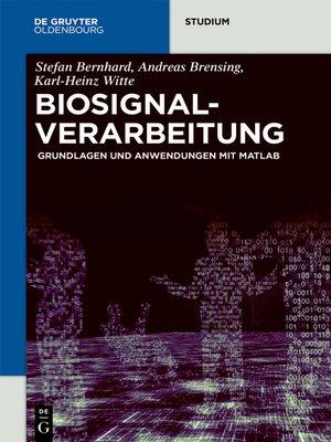 cover image of Biosignalverarbeitung