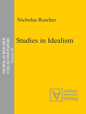 cover image of Studies in Idealism