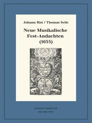 cover image of Neue Musikalische Fest-Andachten (1655)