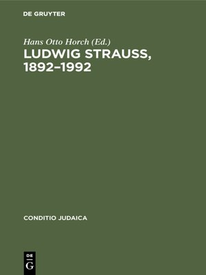 cover image of Ludwig Strauß, 1892–1992