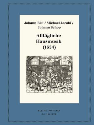 cover image of Alltägliche Hausmusik (1654)