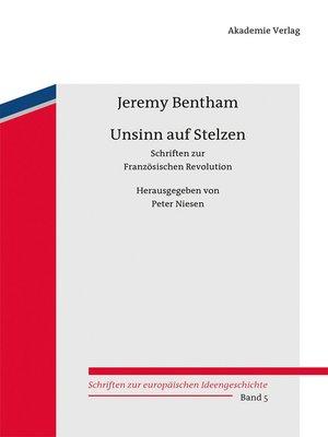 cover image of Unsinn auf Stelzen