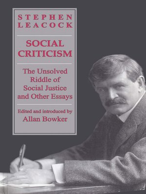 cover image of Social Criticism