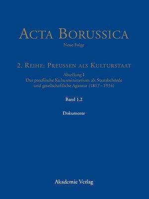 cover image of Die Behörde und ihr höheres Personal – Dokumente