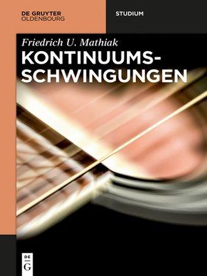 cover image of Kontinuumsschwingungen