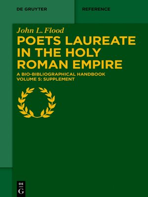 cover image of Poets Laureate in the Holy Roman Empire