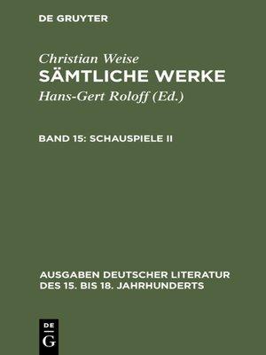 cover image of Schauspiele II