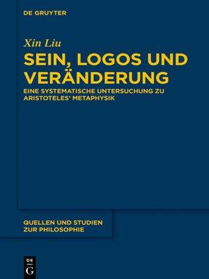cover image of Sein, Logos und Veränderung